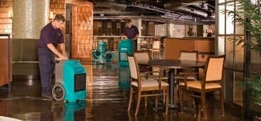 restaurant flood restoration
