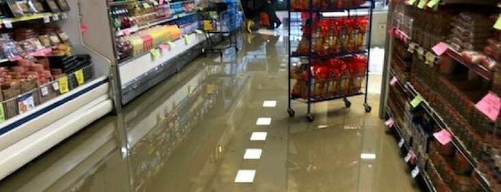 grocery store water damage restoration