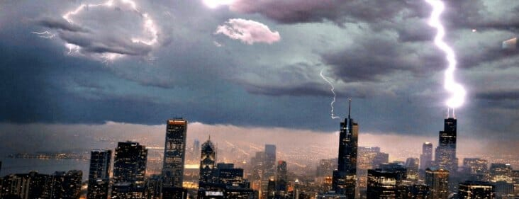 storm in chicago