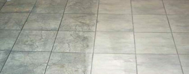 Untreated versus treated tile and grout