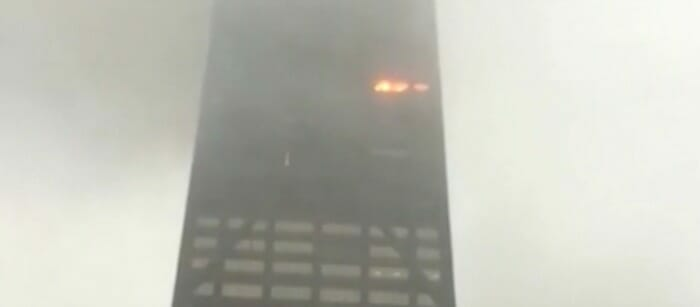 high rise fire in chicago, il