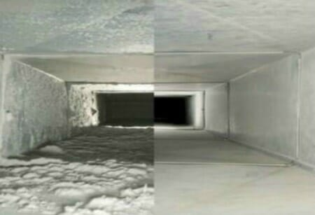 Before after duct cleaning