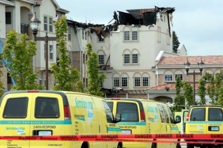 fire damage restoration vans