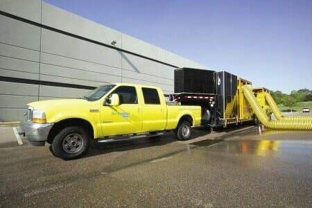 sewage backup dessicant truck