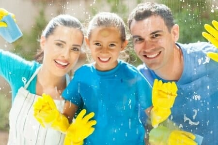 home cleaning family fun