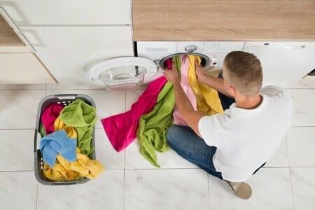 washing machine man clothing