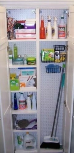 cleaning supplies closet office