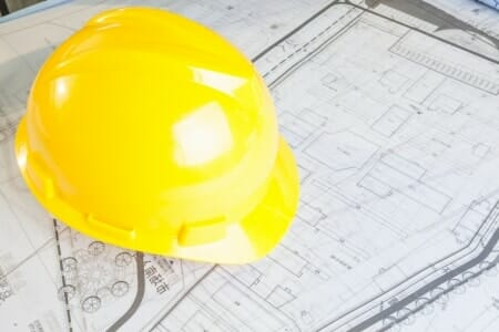 construction helmet blueprints