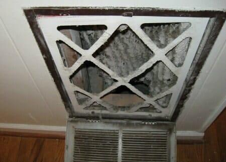 dirty air filter home
