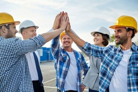 contractors high five
