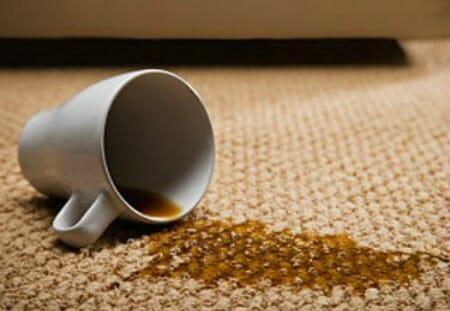 coffee on office carpet