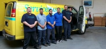 water damage restoration crew