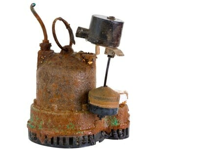 sump pump with problems