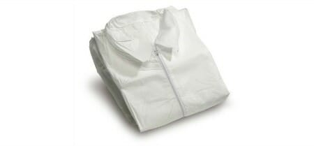 disposable coveralls white background
