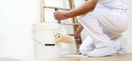 painting drywall white
