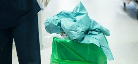 hospital trashcan
