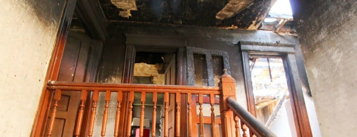 soot damage house