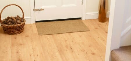 doormat wooden floor