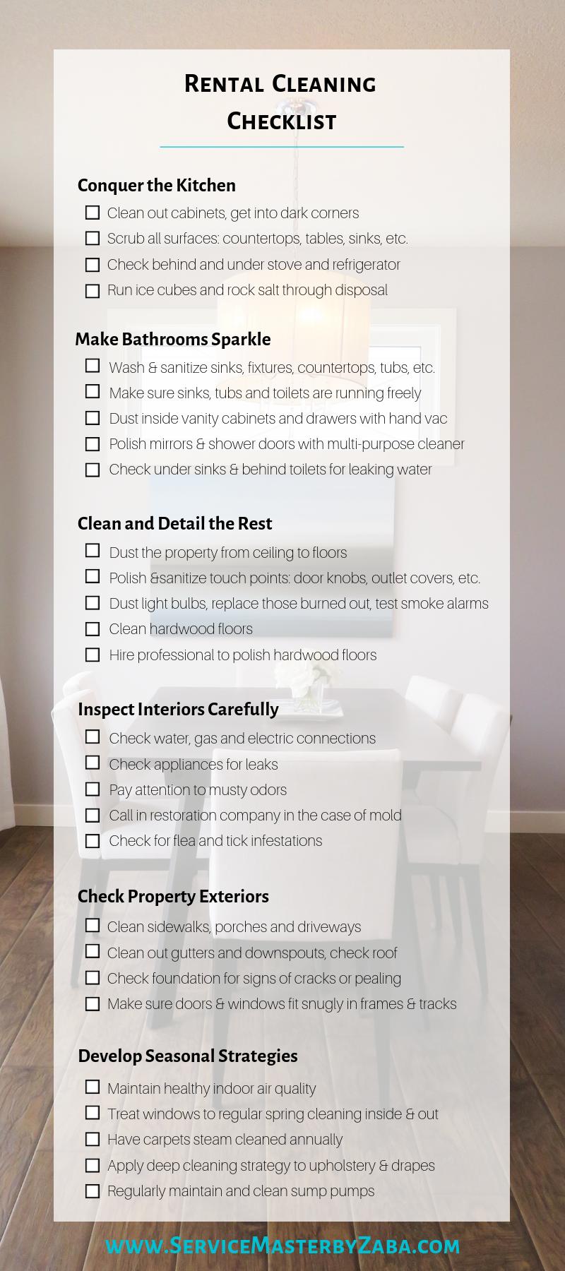 rental cleanout checklist