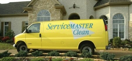 rental property cleaning truck