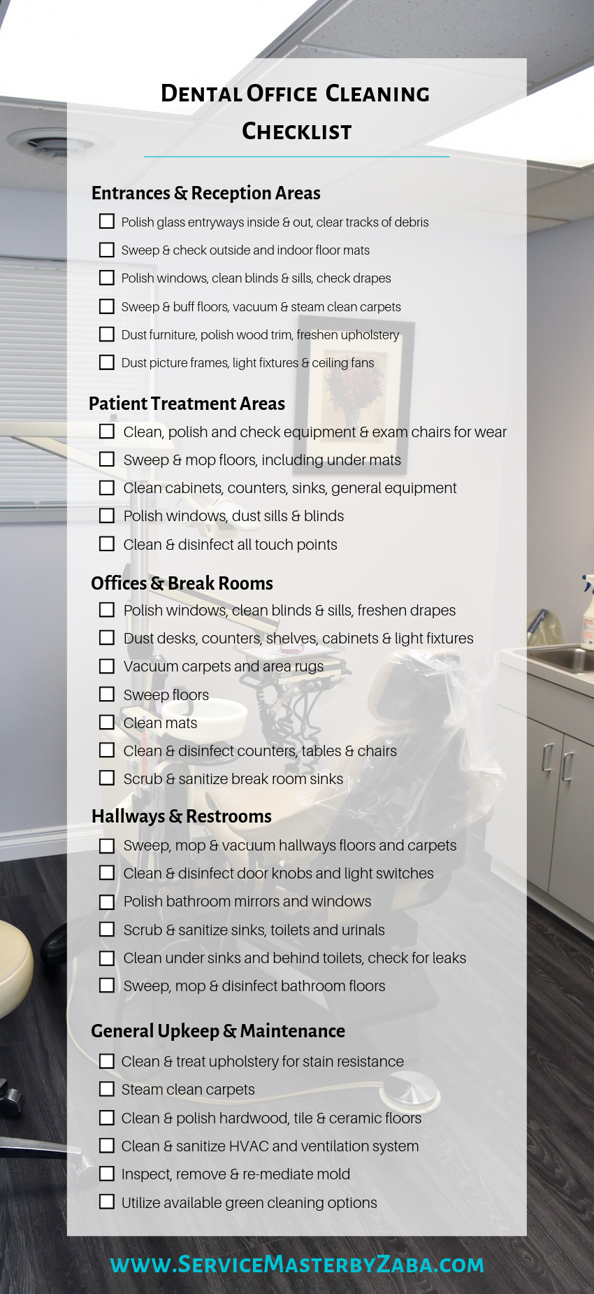 The Ultimate Dental Office Cleaning Checklist