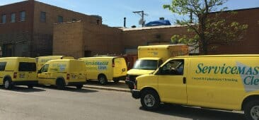 commercial water damage trucks