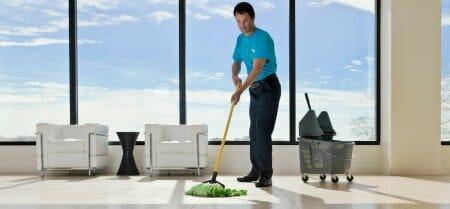 building floor cleaning