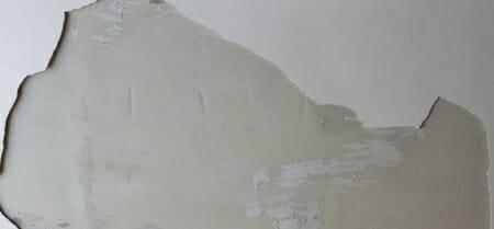 bathroom drywall water damage