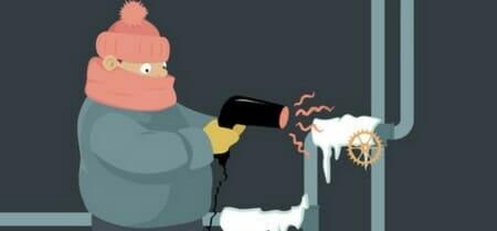 unfreezing water pipe
