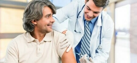 flu vaccine at work