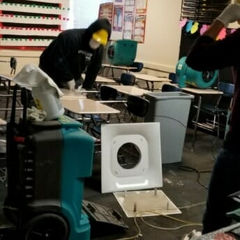 School water damage cleanup