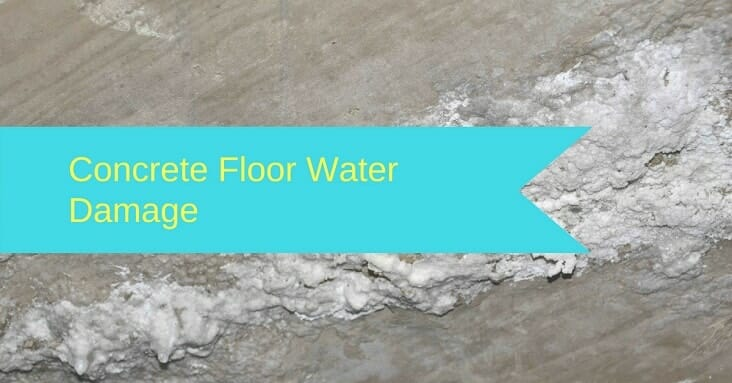 Dry A Concrete Floor After Water Damage