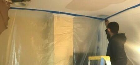ceiling water damage repair contractor
