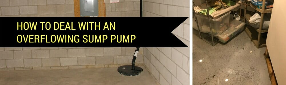 overflowing sump pump