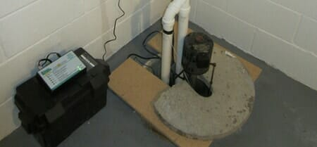 sump pump battery backup