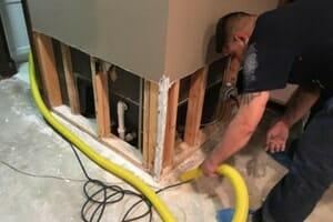 repairing water damaged baseboards in skokie home