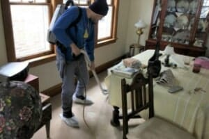 professional carpet cleaner in home