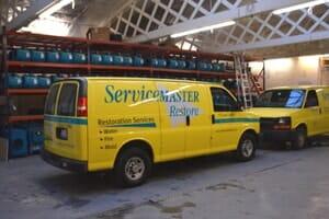 servicemaster water damage truck