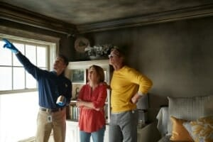 fire damage cleanup professional with skokie customers