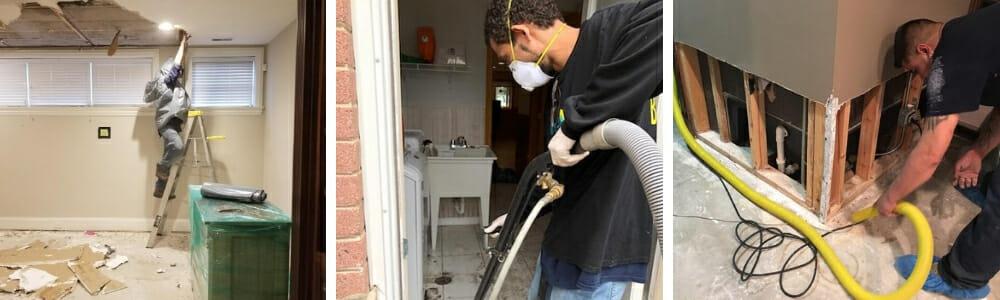 water damage restoration technicians