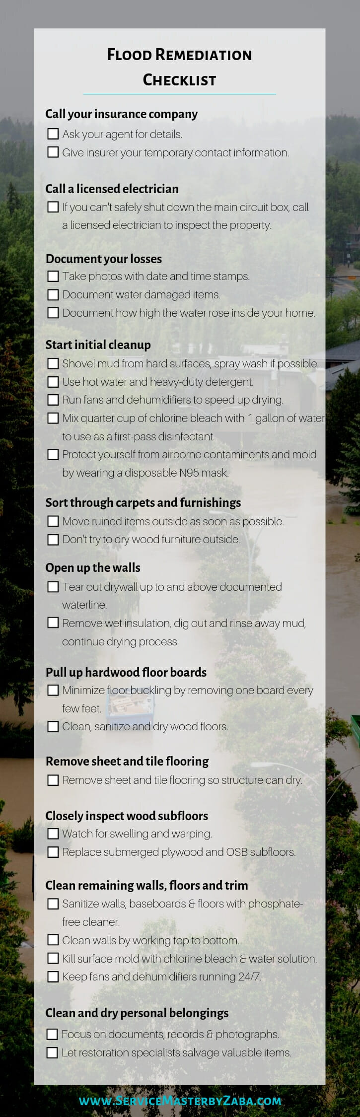flood remediation checklist