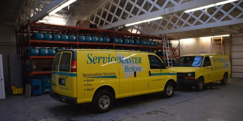 servicemaster water damage truck chicago