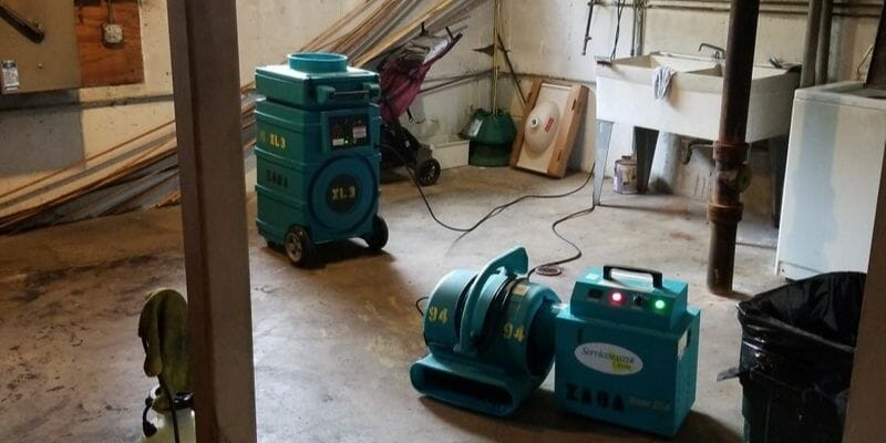 flood drying equipment in chicago home
