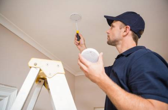 install smoke alarm in laundry room