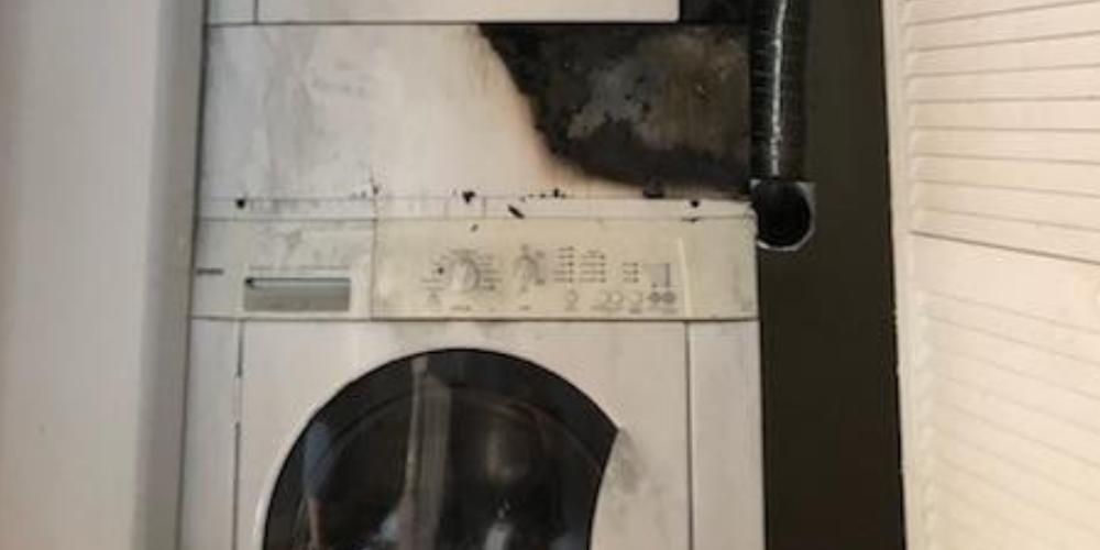 washing machine fire
