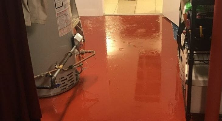 basement flooding in apartment