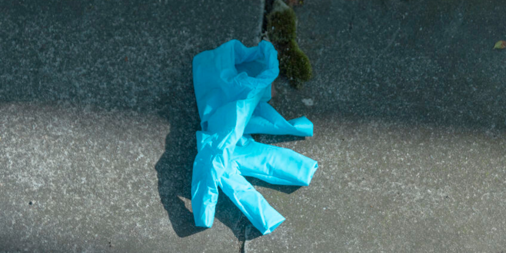 discarded latex glove in chicago