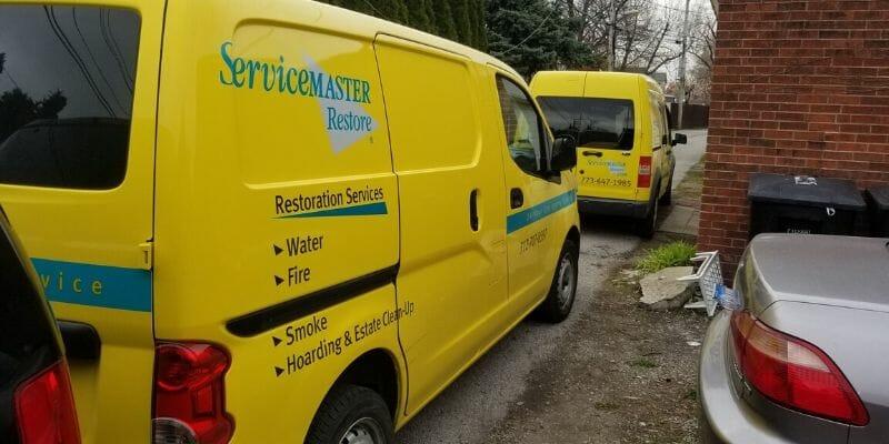 servicemaster fire restoration vans