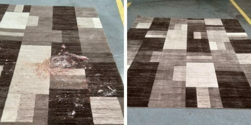 before and after evanston rug cleaning service