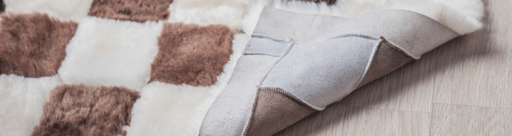 how to clean a sheepskin rug